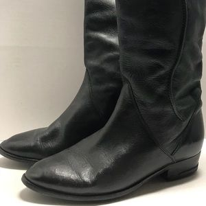 Shoes - Black Vintage Made In Italy Genuine Leather Boots